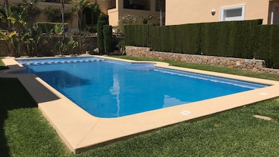 Pool that is shared with residents of other properties.