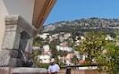 terrasse et vue sur la montagne