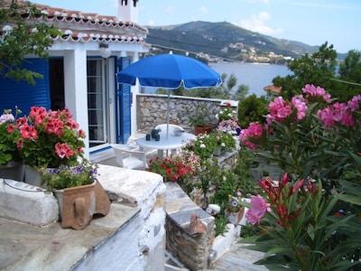 Strand von Meghalos Aselinos, Skiathos, Thessalien, Griechenland