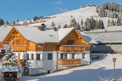 Kabinenbahn Skitrans Bronta, Enneberg, Trentino-Südtirol, Italien