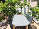 Genießen Sie im Herbst die süßen Trauben auf der Dachterrasse