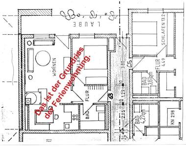 Info für Sie über den Grundriss der Ferinewohnung.