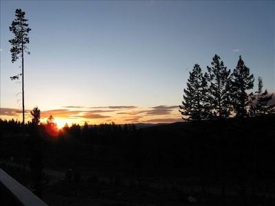 Sunset/mountain view