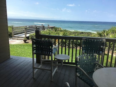 A better look at the back porch and the gorgeous view our condo has to offer.
