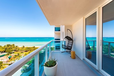 Beautiful Ocean views from your furnished balcony