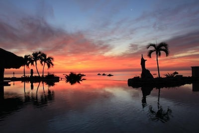 Sunrise and the infinity pool