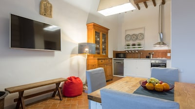 Dining, TV and Kitchen