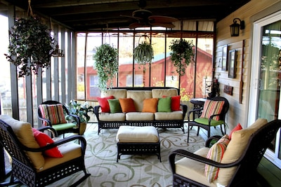 Enjoy the cozy screen porch with your morning coffee or after noon wine