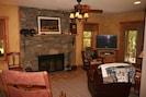 Lower lever fireplace/den
