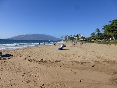 Beautiful Kamaole II beach, directly across the street from the Kihei Kai Nani.