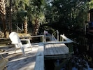 Dock and floating dock.  Fish or simply relax. Dock your boat.
