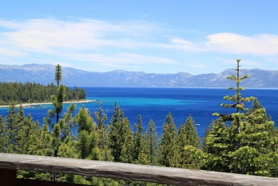 Gorgeous panoramic views overlooking Meeks Bay Large deck w BBQ, & dining table
