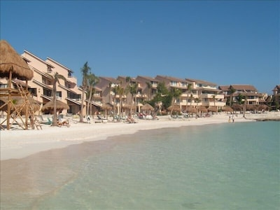 Chac Hal Al Condos on the Main Beach in Puerto Aventuras