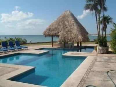 One of the condo complex pools overlooking the ocean