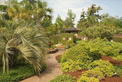 Bali  house garden path