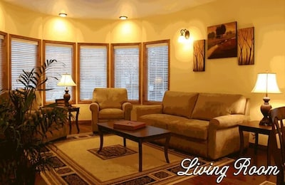 Living room perfect for relaxing or entertaining