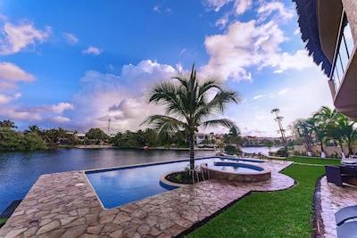 Backyard Pool overlooking lagoon