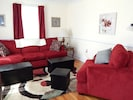 Comfortable seating area in living room