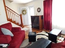 Bright living room at Luray Cottage