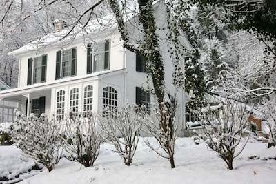 Winter Photo from County Road - MAIN HOUSE / Studio in background