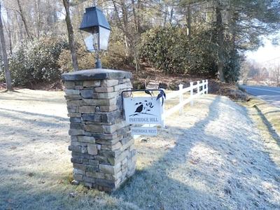 Main entrance on Everett Farm Road