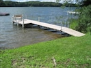your dock and swimming area. diving platform just beyond.