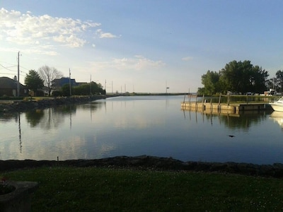View of Lake Erie from front yard