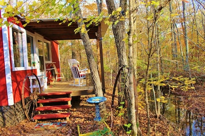 Meander through the mountains then relax in a rocking chair overlooking a creek.