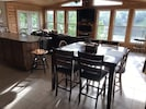 Dining area & sun room. Great view of the sunrise. Gas fire place.
