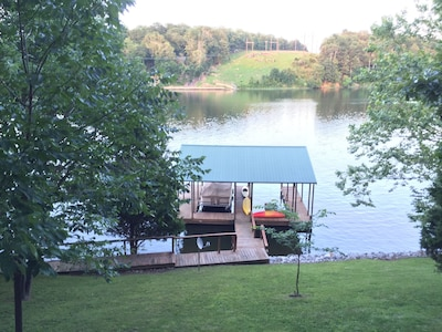 View from the lower deck. Enjoy this view while grilling and chilling.