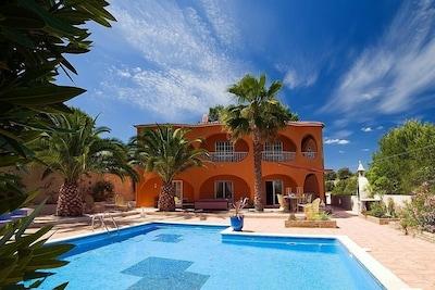 Villa, pool and gardens