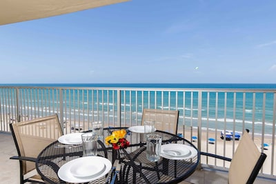 Enjoy the ocean breeze and the rolling waves as you eat out on the balcony!
