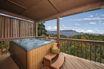 Hot Tub, cold beverage, Imagine this view