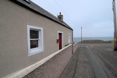 Picturesque view of the Bay at Portknockie overlooking the Moray Firth