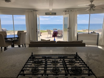 View of island from kitchen