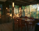 The dining room - a great spot for watching birds over a morning coffee