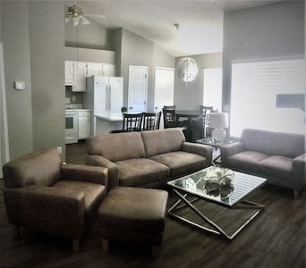 Great living room, high ceilings and open space!