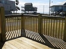 A side deck for tanning or just sitting and hanging out