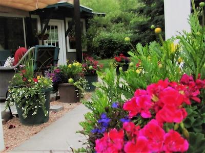 Enchanting entrance to cottage