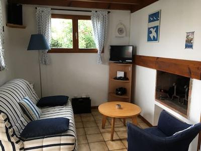 Le petit salon au coin de la cheminée (bien agréable l'hiver)