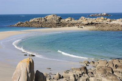 soleil mer et sable blanc