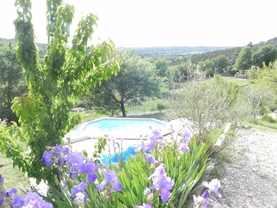 Vue jardin depuis la terrasse