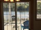 View from the kitchen patio door onto the covered porch.