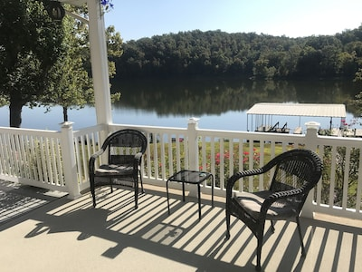 Enjoy a cup of coffee and the sunrise on the East facing porch.