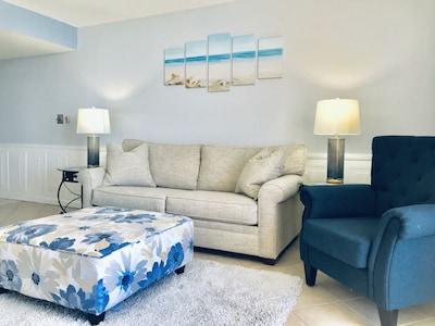 Living room with gel sleeper mattress!  Brand new!