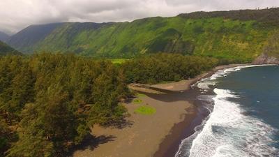 Hiilawe Waterfall, Honokaa, Hawaï, Verenigde Staten