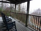 Front porch overlooking the mountains.