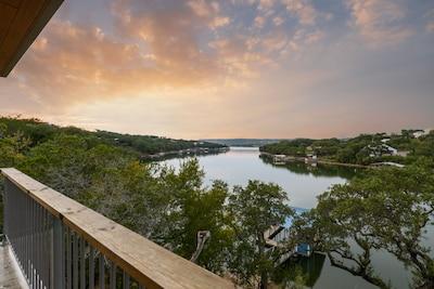 Sunset Cliff on Lake Buchanan