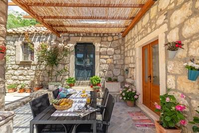 Plage de Trsteno, Dubrovnik, Comitat de Dubrovnik-Neretva, Croatie