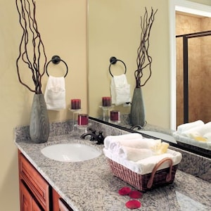 Granite Counters in Master Bathroom